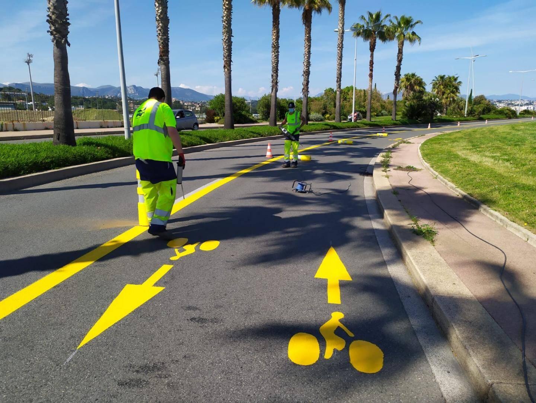Les pistes cyclables ont pris des couleurs sur les routes du département.