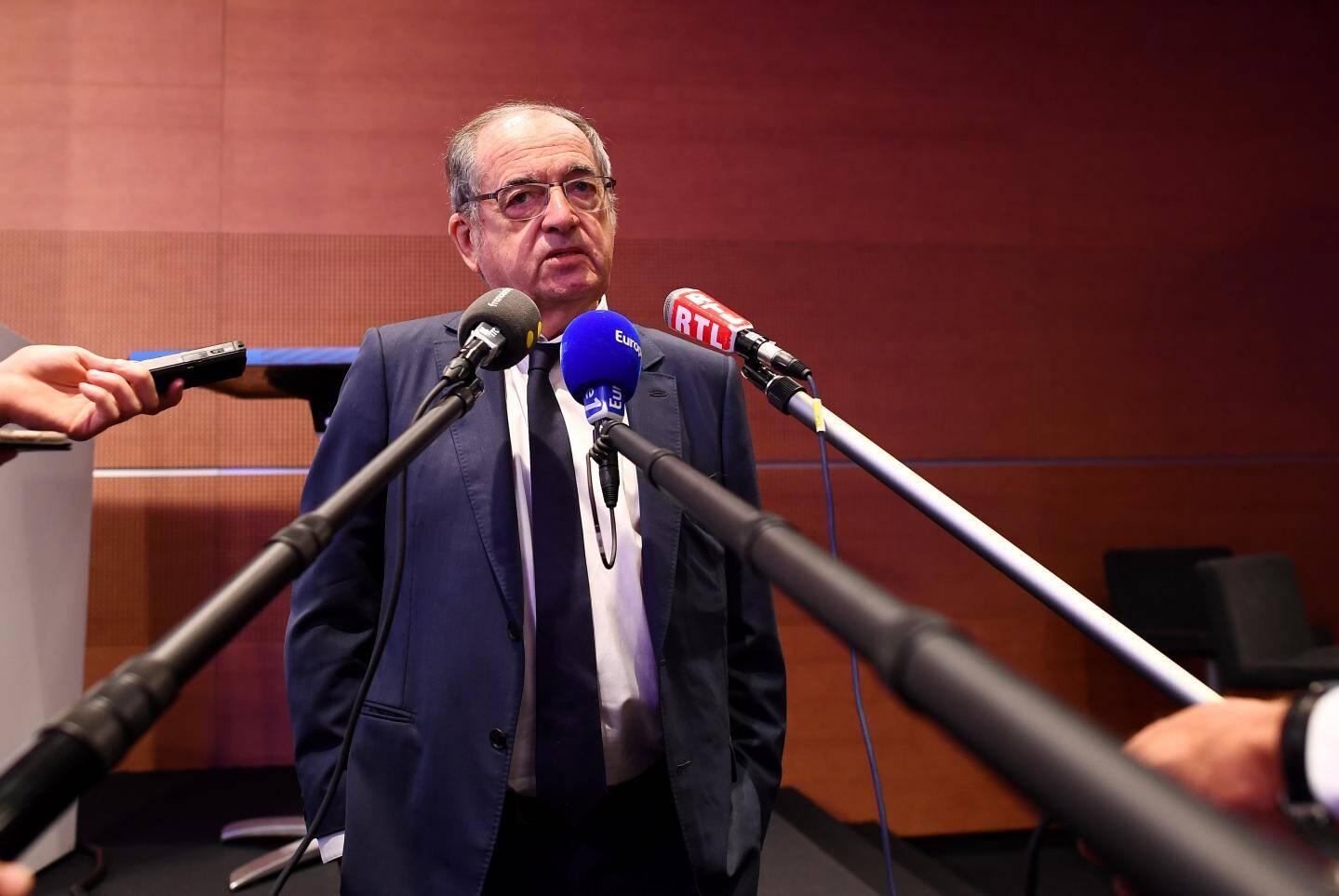 Noel Le Graët, président de la Fédération française de football (FFF) face à la presse ce vendredi.