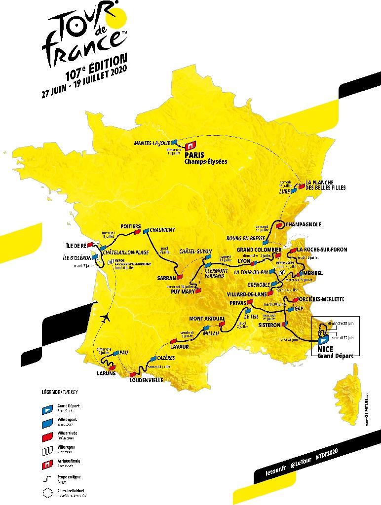 Le parcours du Tour de France dévoilé le 15 octobre 2019 à Paris