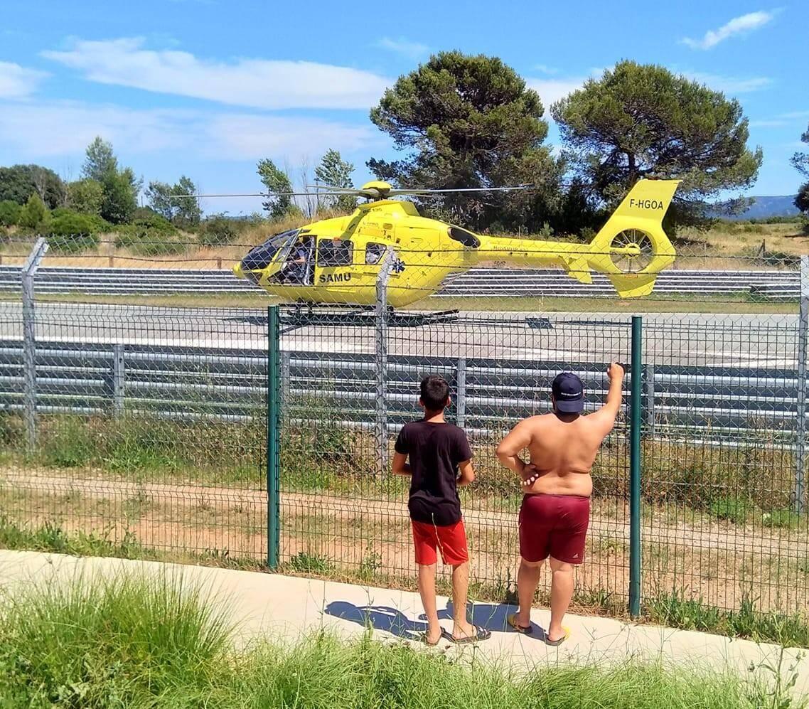 Un grave accident a eu lieu ce dimanche sur le circuit.