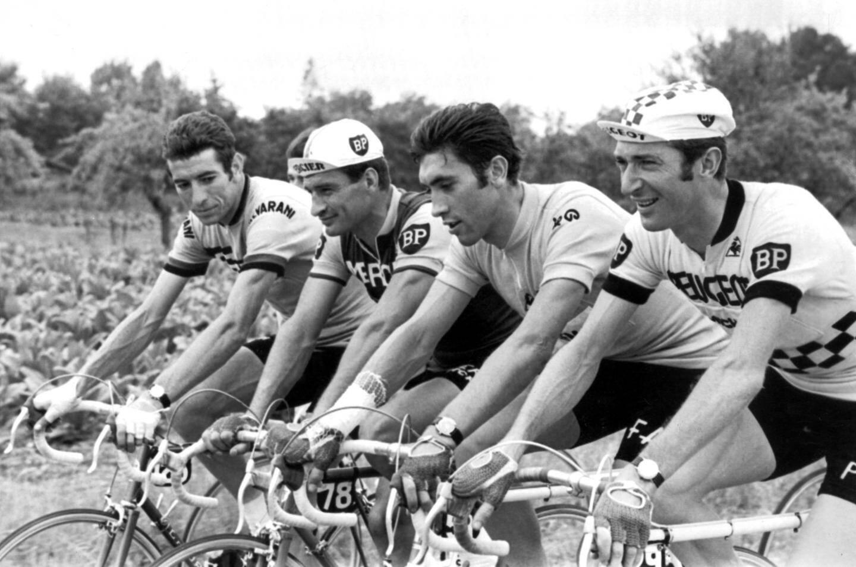 En bonne compagnie avec Gimondi, Poulidor et Pingeon en 69
