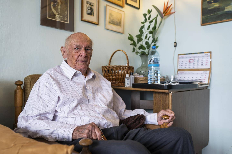 Marek Dunin-Wasowicz, survivant du camp de concentration de Stutthof, fait partie des plaignants.