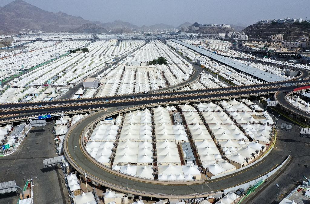Vue aérienne de tentes pour les pélerins à La Mecque le 27 juillet 2020