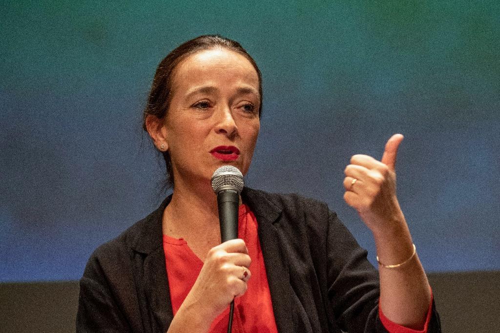 Delphine Ernotte patronne de France Télévisions le 13 septembre 2019 à La Rochelle lors d'une conférence
