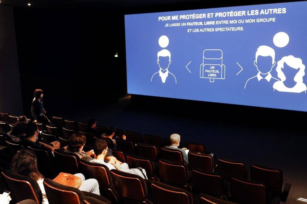 Dans une salle de cinéma à Paris, le 22 juin 2020