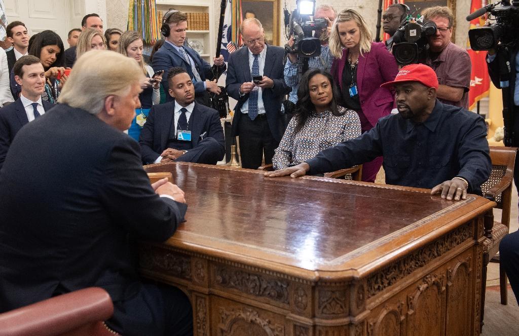 Kanye West et Donald Trump le 11 octobre 2018 dans le Bureau ovale de la Maison Blanche