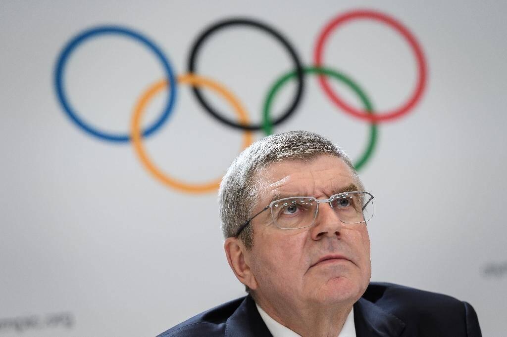 Thomas Bach lors d'une conférence de presse au siège du CIO à Lausanne le 10 janvier 2020.