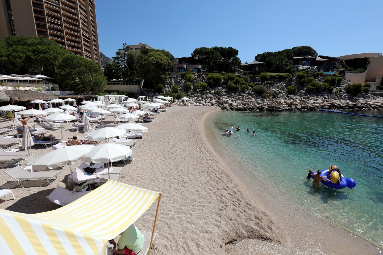 La plage privée du Méridien.