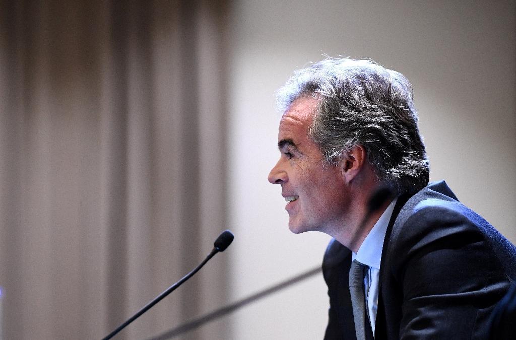 Le directeur de Mediapro France, Julien Bergeaud, lors d'une conférence de presse à Paris le 12 décembre 2019