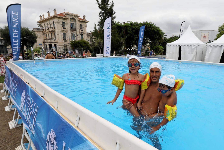 La piscine hors-sol installée sur la coulée verte est ouverte depuis ce mercredi et jusqu'au 31 août.