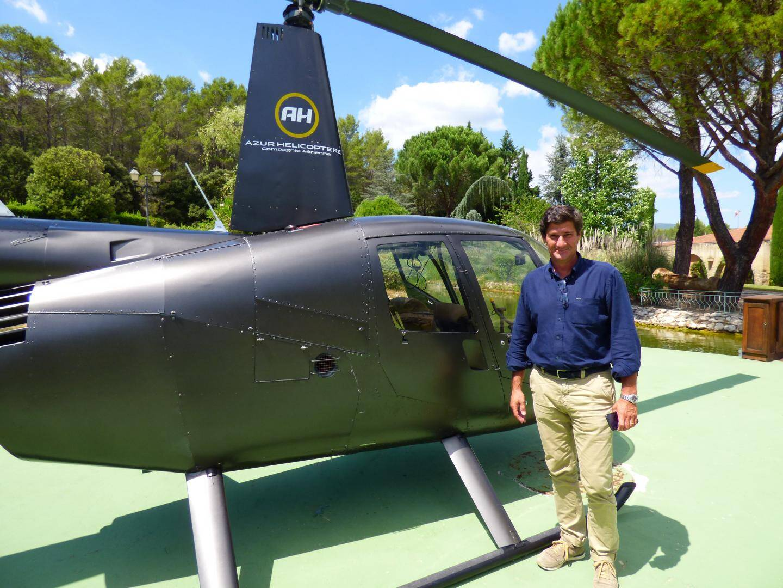 Michel de Rohozinski, directeur d'Azur Hélicoptère.