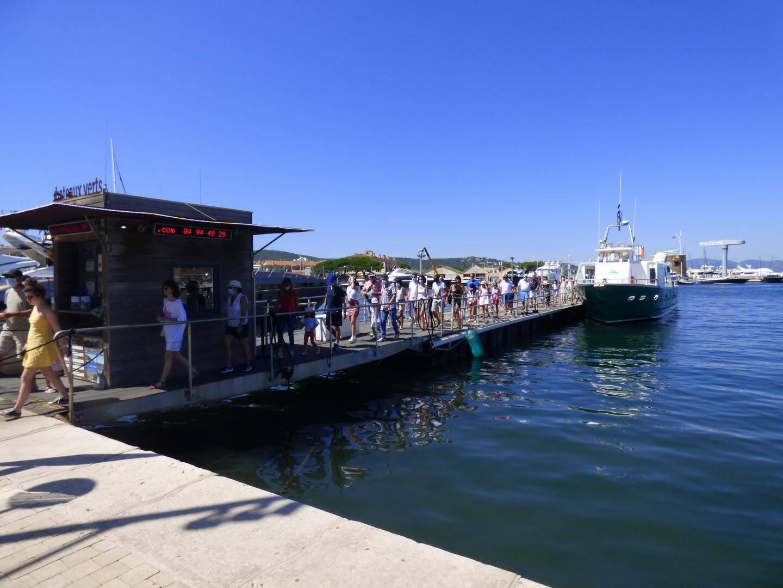 Si la fréquentation des navettes maritimes subit une baisse depuis le début de saison, certaines liaisons fonctionnent bien, notamment à l'heure du déjeuner ou les jours de marché à Saint-Tropez.