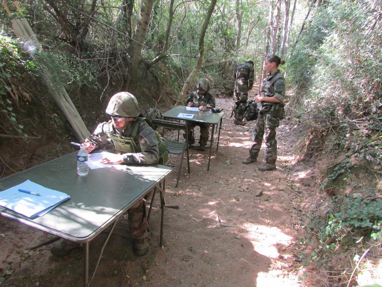 Des ateliers écrits ont ponctué le parcours, comme ici sur au sujet des risques NRBC (nucléaires, radiologiques, biologiques, chimiques).