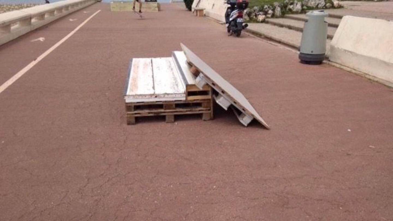 Les modules installés par les jeunes skateurs.