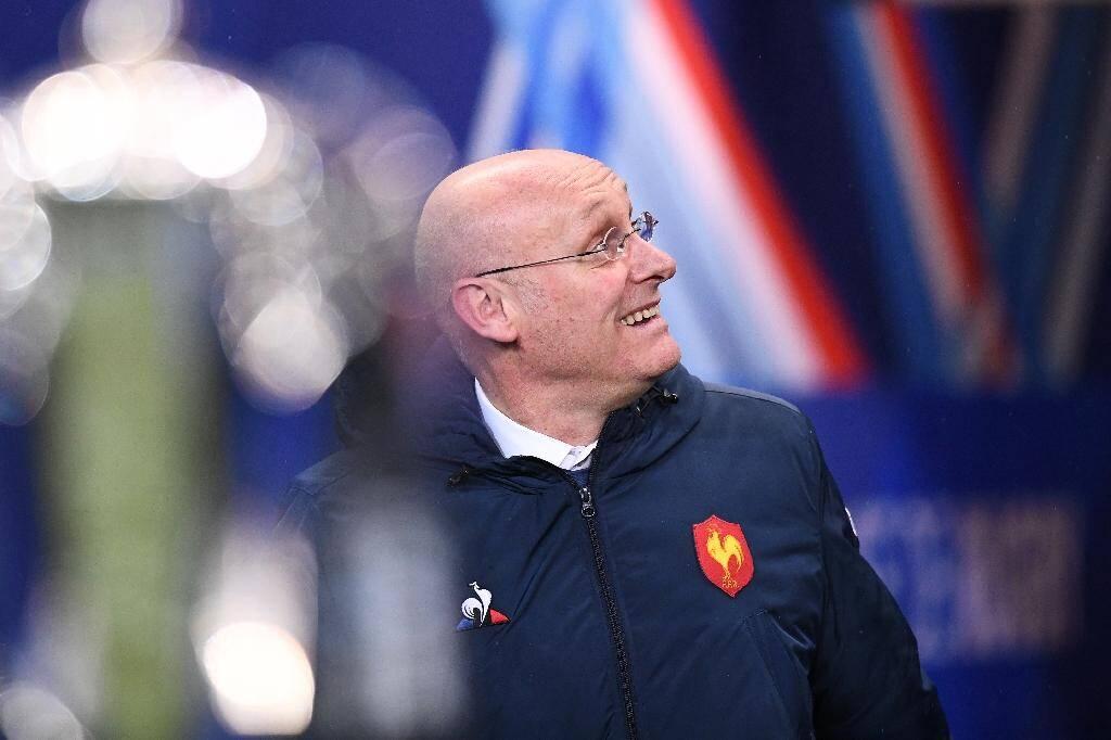 Le président de la Fédération française de rugby Bernard Laporte le 1er février 2019 au Stade de France à Saint-Denis