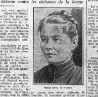 Marie Gros, la victime, dans Le Petit Parisien le 11 mai 1929.