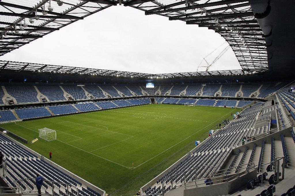 Vue générale du stade Océane du Havre le jour de son inauguration le 12 juillet 2012