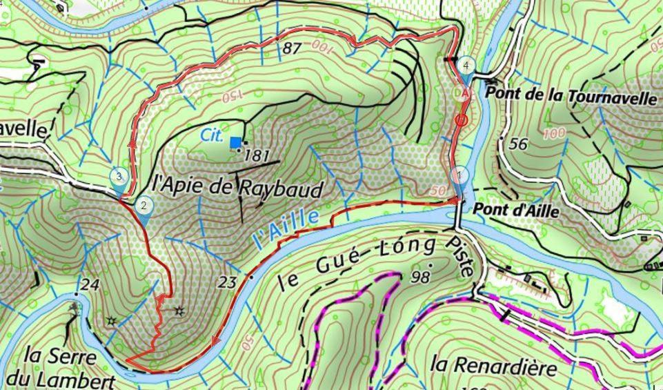 La randonnée de l'Apié de Raybaud aux Arcs.