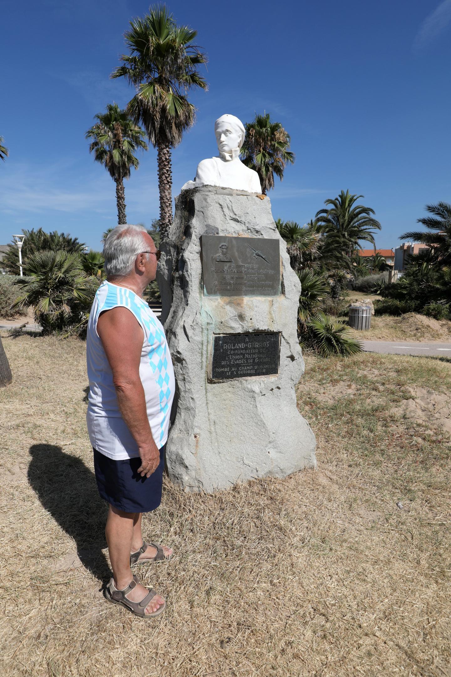 La stèle, aujourd'hui, est située à quelques dizaines de mètres de son emplacement initial.