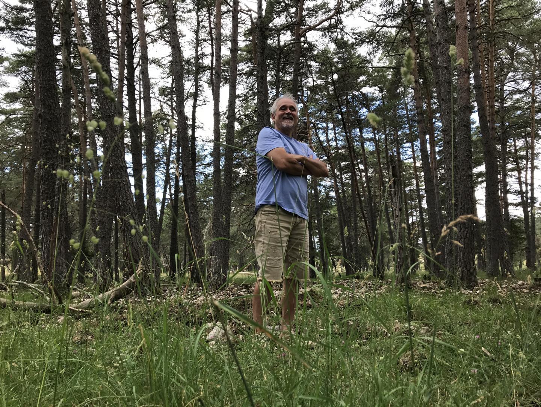 Patrice Longour, directeur de la réserve des Monts d'Azur: il y a 15 ans, dans cette zone à forte érosion il n'y avait que de la roche.