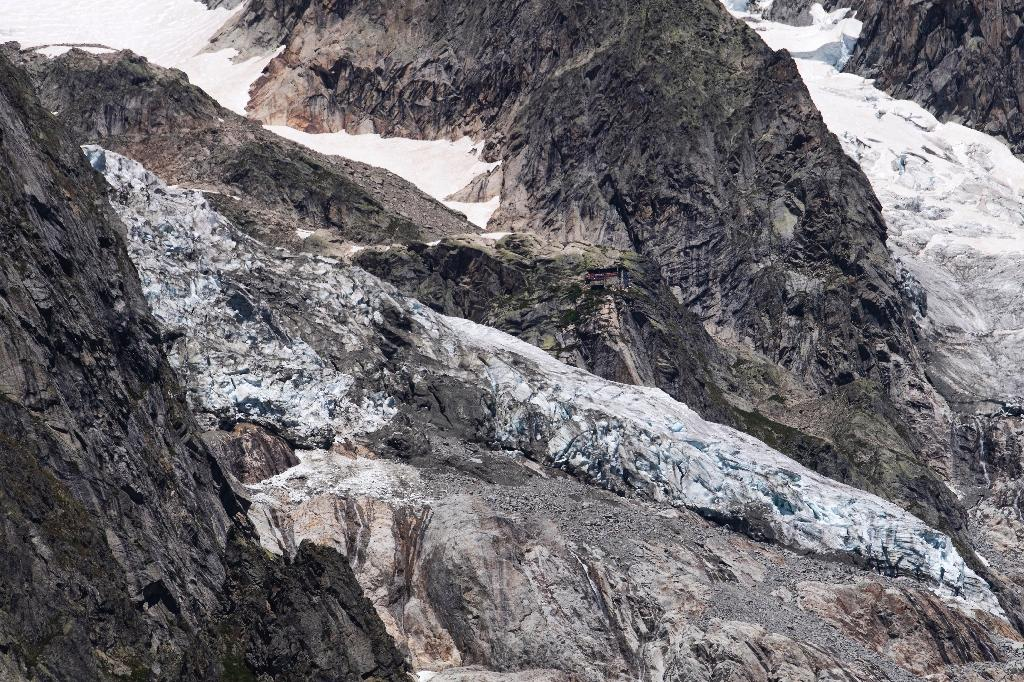 Le glacier de Planpincieux à Courmayeur, le 6 août 2020 au Val Ferret, en Italie