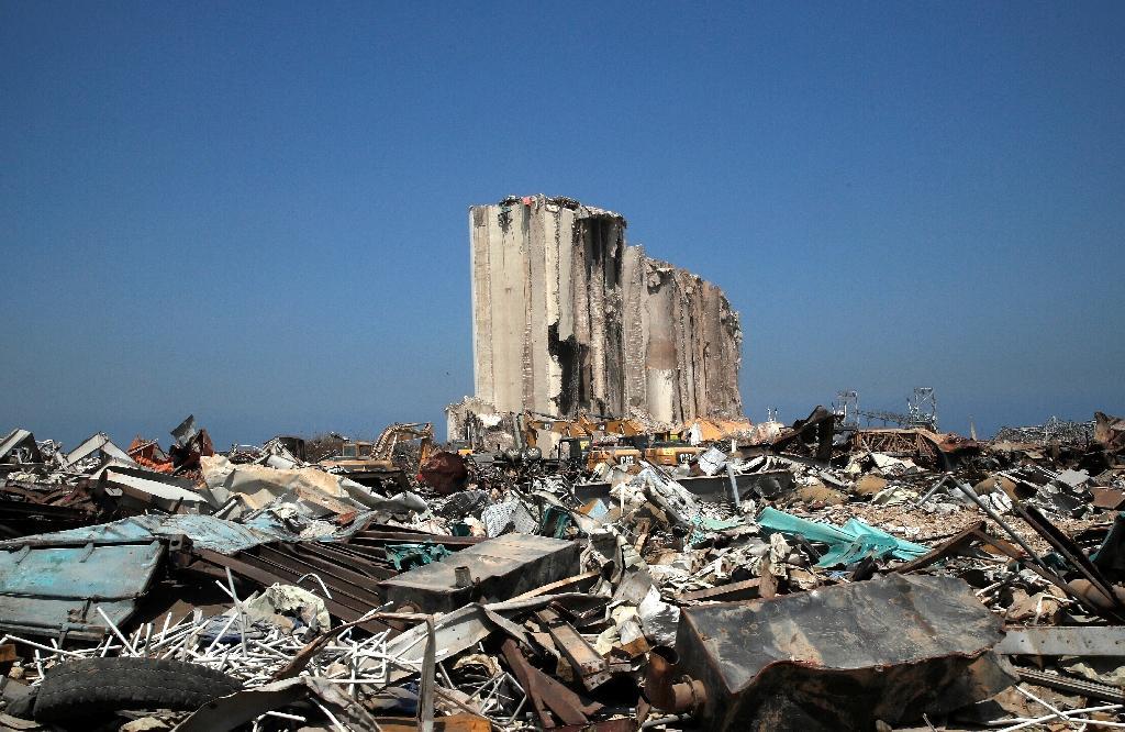 Les dégâts après l'explosion au port de Beyrouth, au Liban, le 31 août 2020
