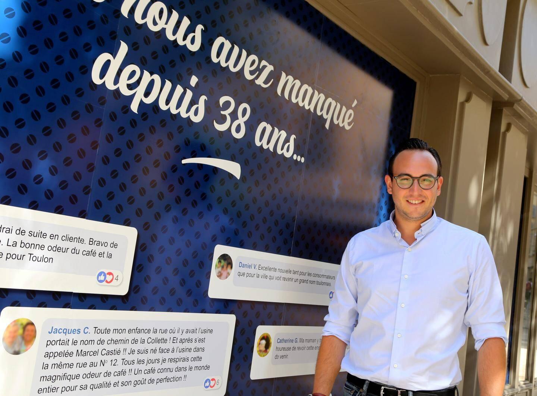 Afficheur de profession, Boris Touaty entend relancer l'entreprise familiale de torréfaction et de vente de café. Son atelier ouvrira dans le centre-ville de Toulon après l'été.