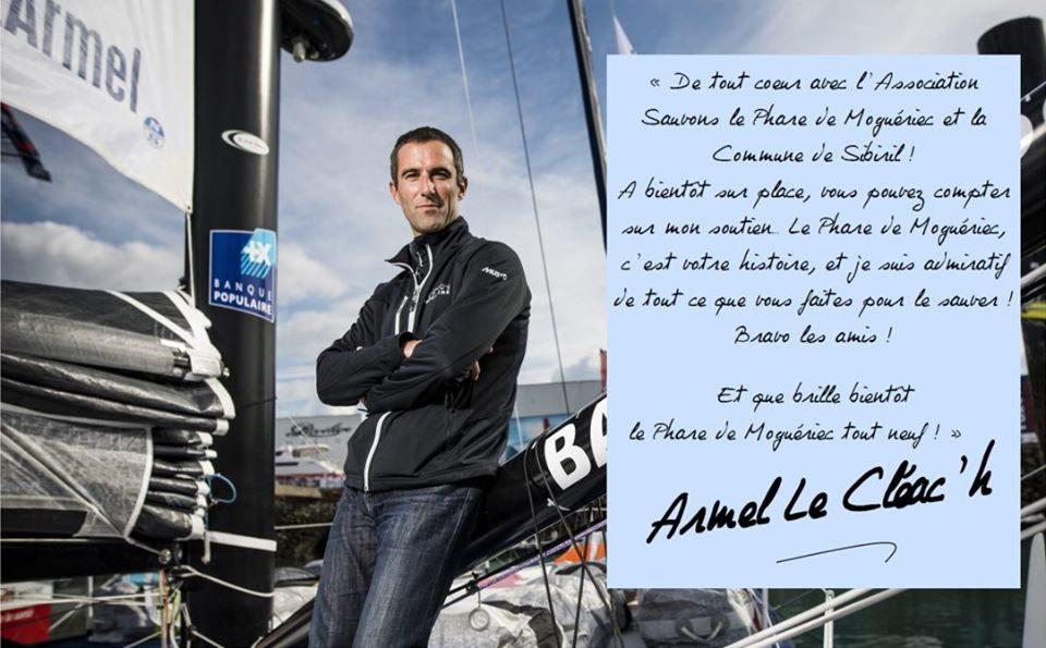 Le navigateur et skipper profession Armel Le Cleac'h