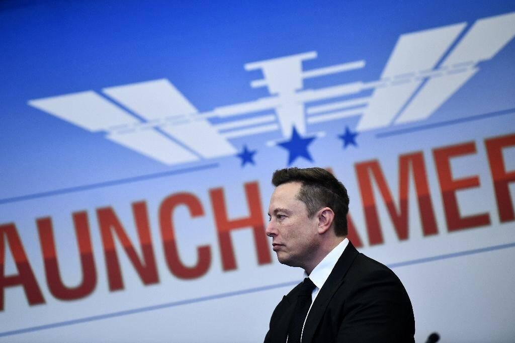 Elon Musk au Centre spatial Kenndy, le 27 mai 2020 en Floride
