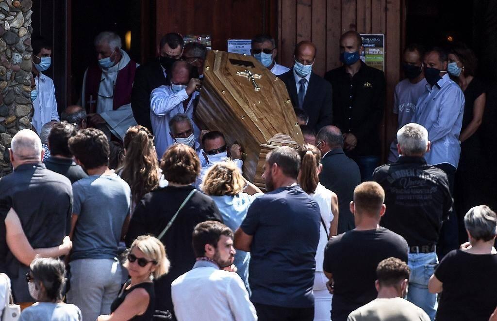 Les funérailles du chauffeur de bus Philippe Monguillot, le 20 juillet 2020 à Bayonne
