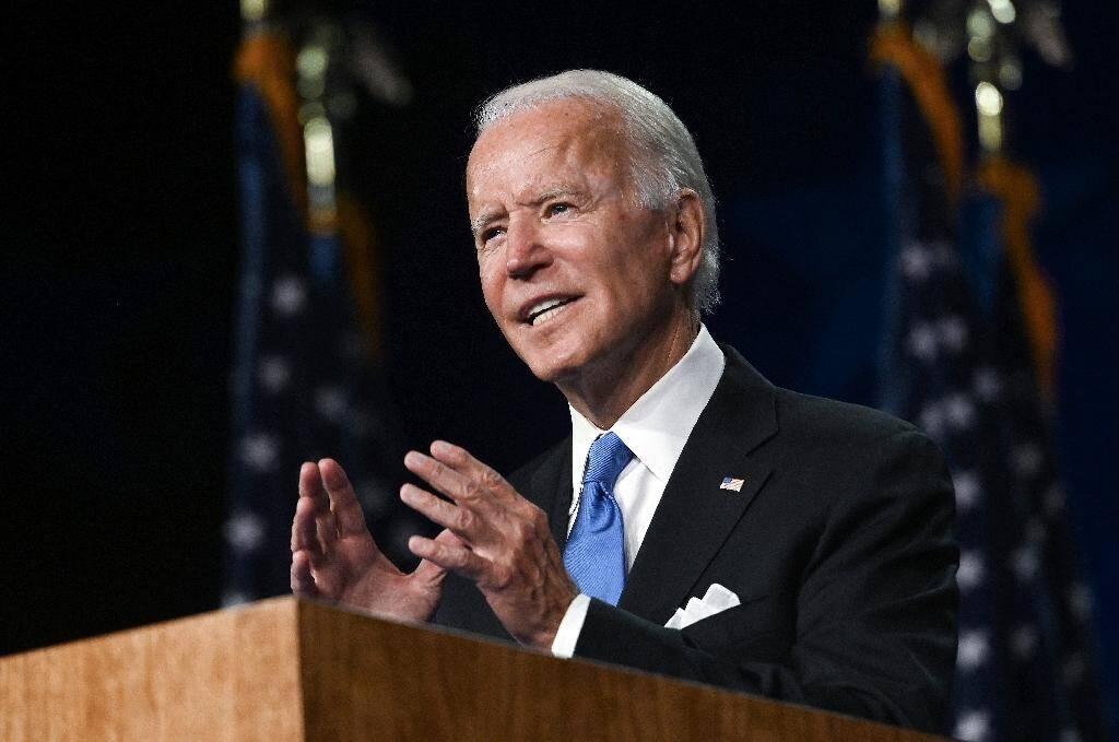 Le candidat démocrate à la Maison Blanche s'exprime lors de la convention démocrate américaine, à Wilmington, dans le Delaware, le 20 août 2020.