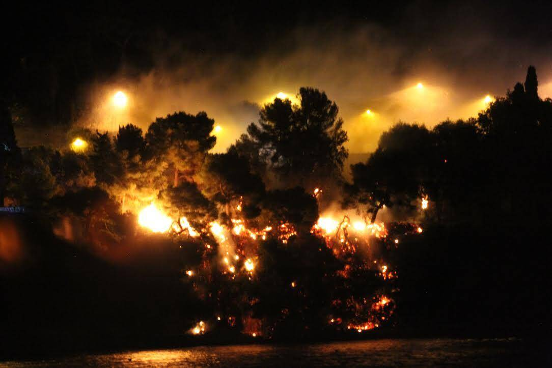 Le feu de broussaille a rapidement été éteint.