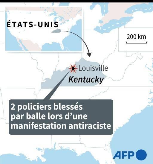 Louisville, 2 policiers blessés