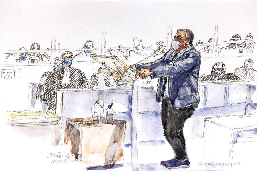 Michel Catalano au procès de Charlie Hebdo au tribunal de Paris, le 16 septembre 2020