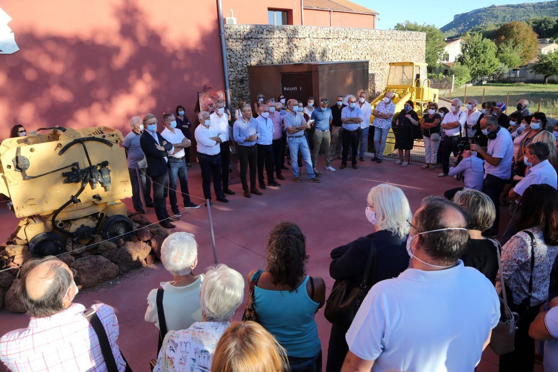 Lors de l'inauguration au Musée des Gueules rouges à Tourves.