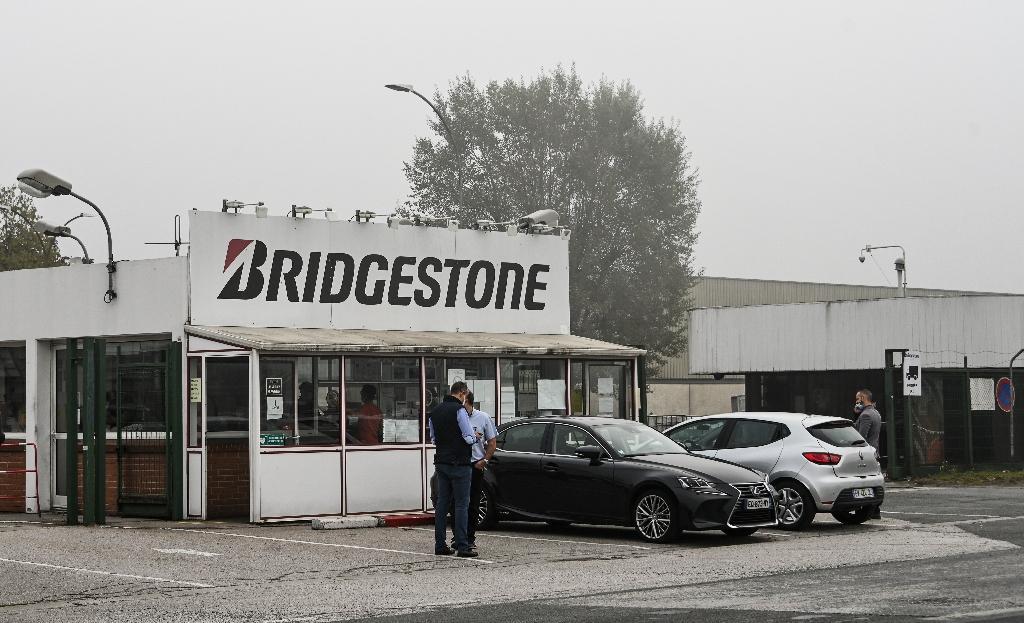 L'entrée de l'usine Bridgestone à Béthune (Pas-de-Calais) le 16 septembre 2020