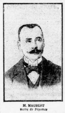 Portrait de M. Maubert, le maire de Pégomas.