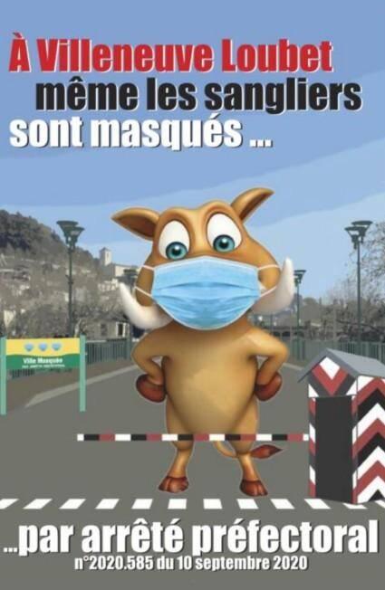 Lionnel Luca ne lâche rien. Depuis ce mercredi matin, sur le mode humour noir à la Charlie Hebdo, le maire de Villeneuve-Loubet a fait placarder des affiches illustrées d'un sanglier masqué.