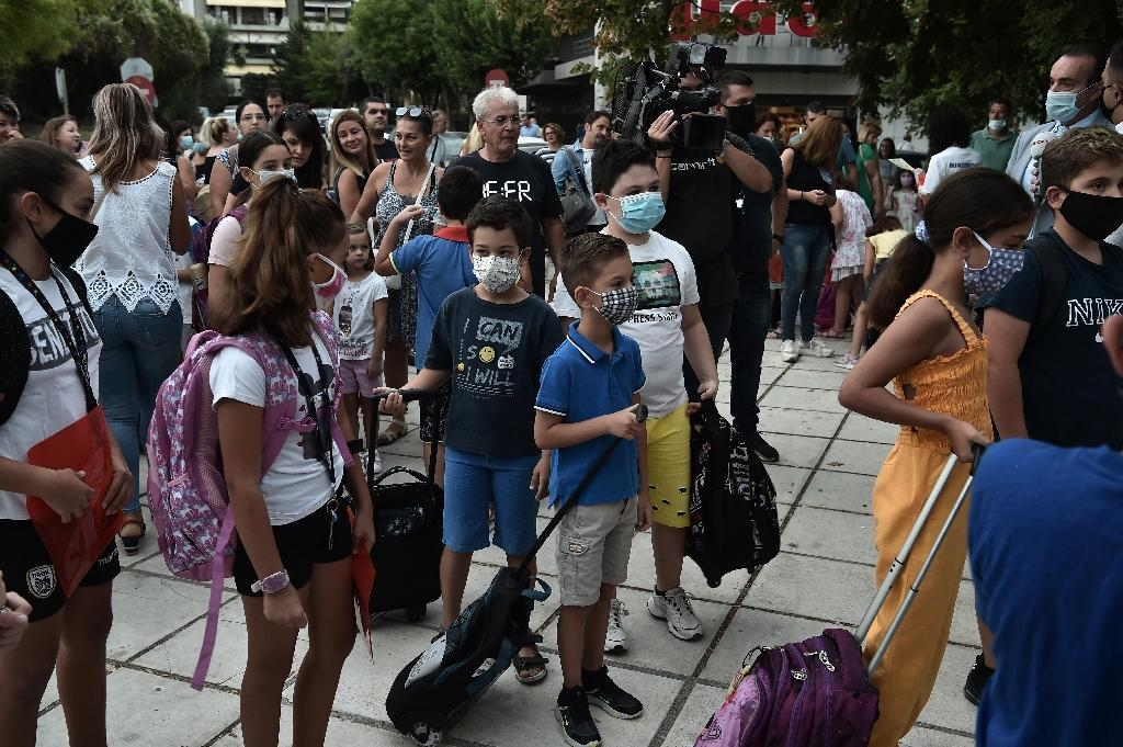 Rentrée scolaire à Salonique, en Grèce, le 14 septembre 2020