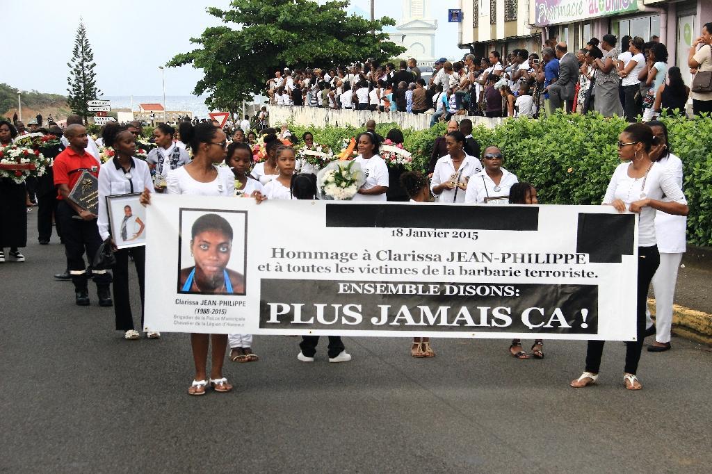 Les funérailles de Clarissa Jean-Philippe à Sainte-Marie en Martinique, le 19 janvier 2015