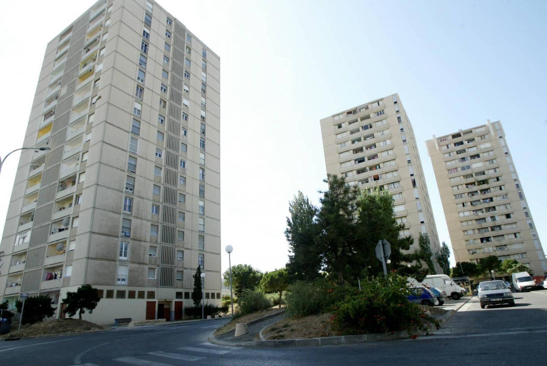 Des H.LM. de la cité Berthe    La Seyne-sur-Mer, le 04 septembre 2009. Vue des immeubles de la cite du Messidor situe dans le quartier de Berthe.