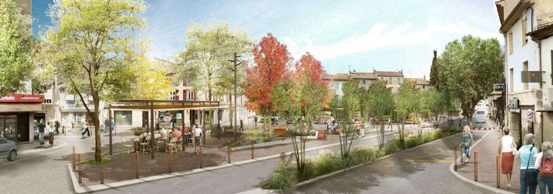 Les images de synthèse de la place Saint-Louis  telle qu'elle devrait être après sa requalification.