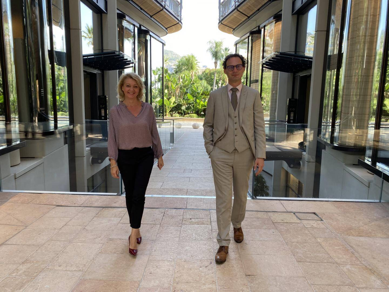Sandrine Camia et Guy Antognelli, respectivement adjointe et directeur à la Direction du Tourisme.
