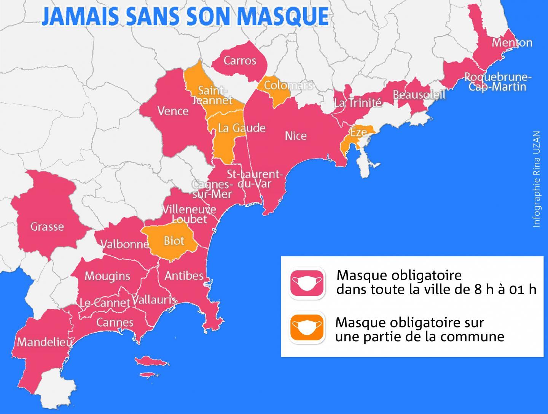 Dans les Alpes-Maritimes, 18 communes sont concernées.