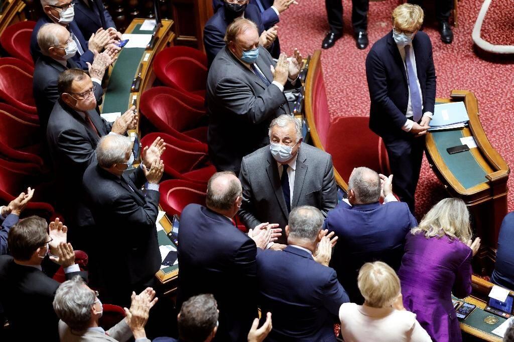 Réélection de Gérard Larcher (c), comme président du Sénat, le 1er octobre 2020