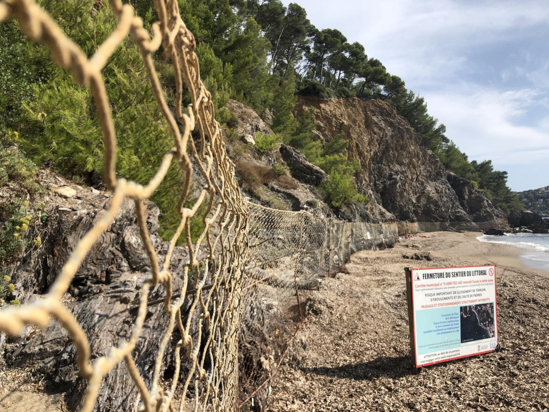 Fermée depuis 2015, la liaison entre les plages des Bonnettes et de La Garonne doit prendre de la hauteur et passer au-dessus de la falaise.