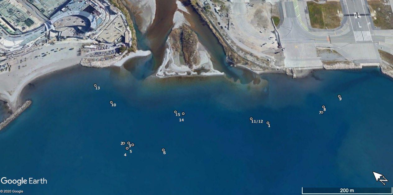 Depuis mercredi, le sonar a permis d'identifier une quinzaine d'objets suspects à l'embouchure du Var.(Image Gendarmerie)