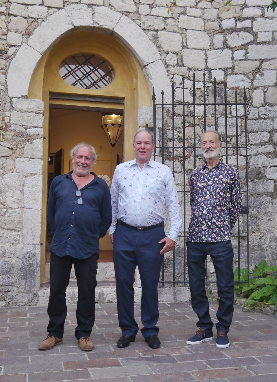 Le Prince Albert II de Monaco est venu découvrir l'exposition de Claude Rosticher à Gorbio.