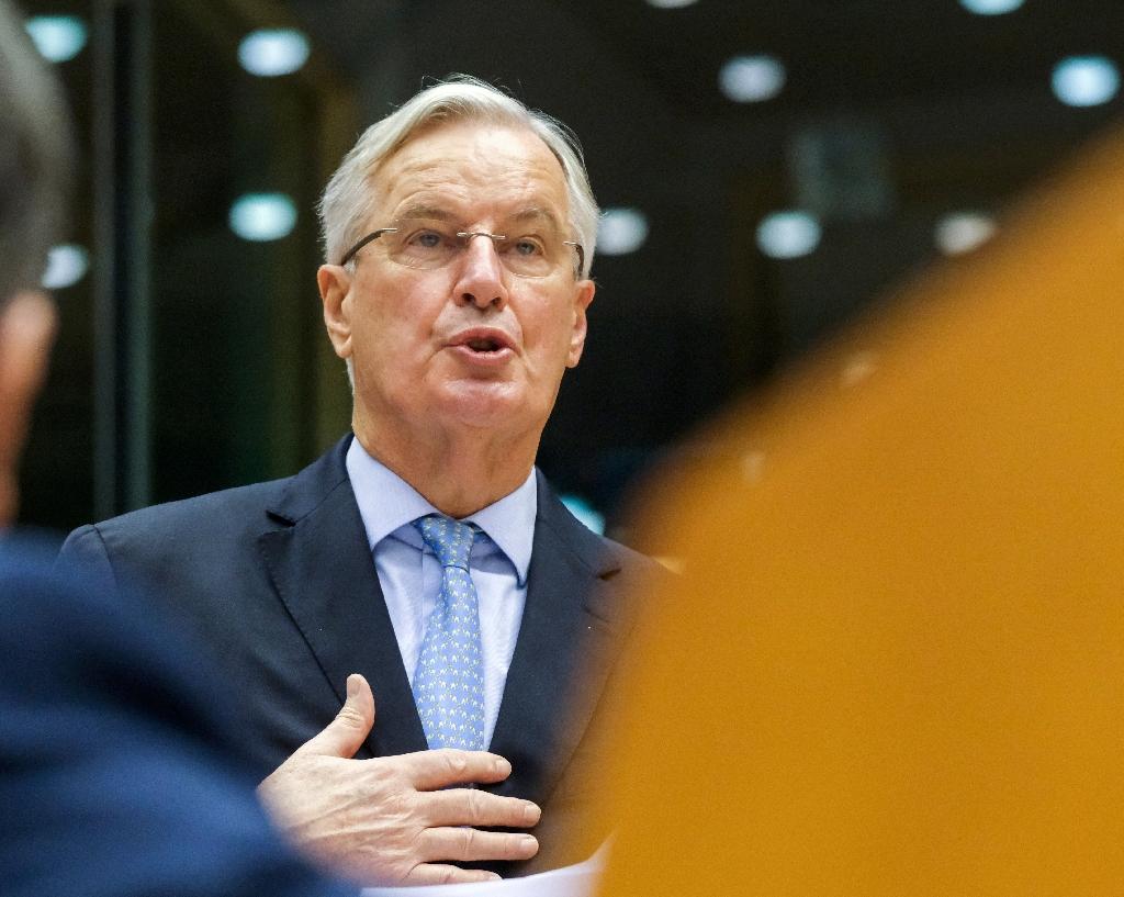 Michel Barnier, négociateur européen sur le Brexit, au Parlement européen à Bruxelles le 21 octobre 2020