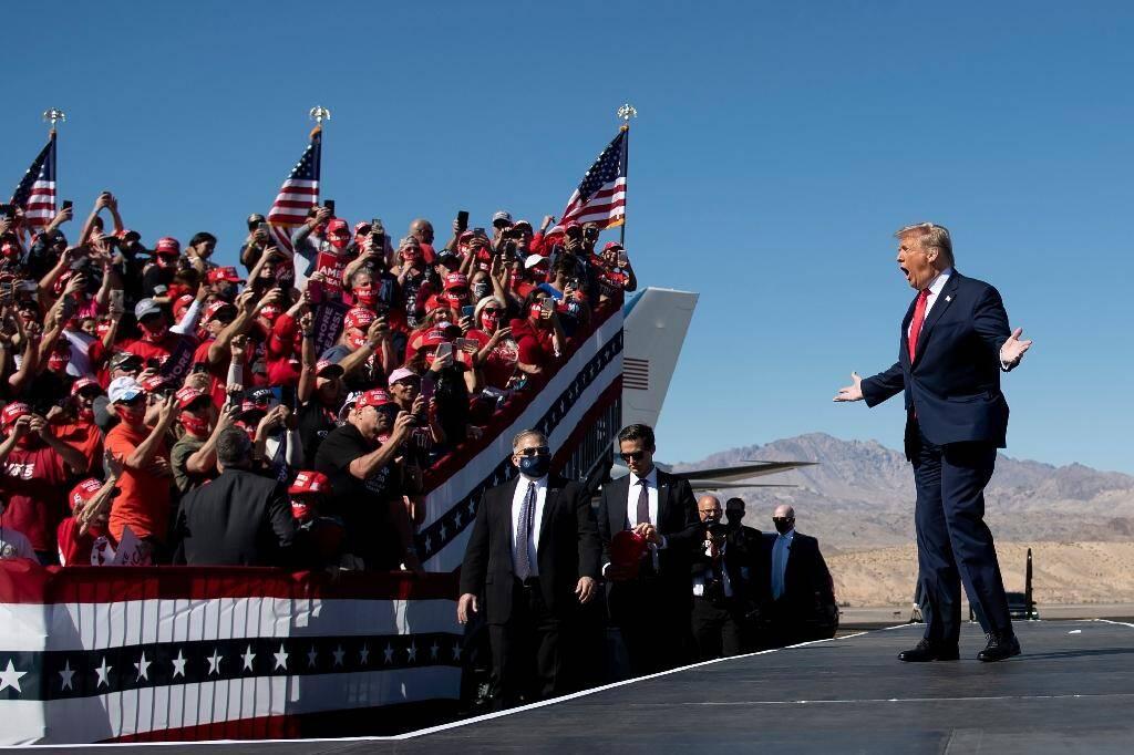 Le président américain Donald Trump en meeting de campagne à Bullhead City, en Arizona, le 28 octobre 2020